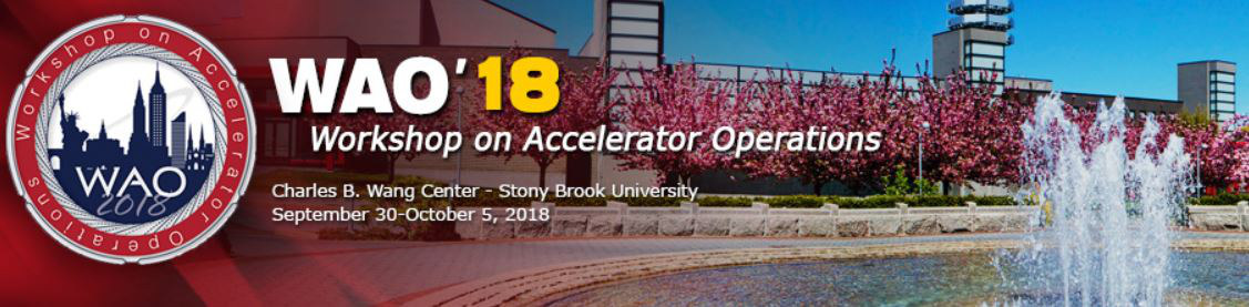 WAO'18: Workshop on Accelerator Operations